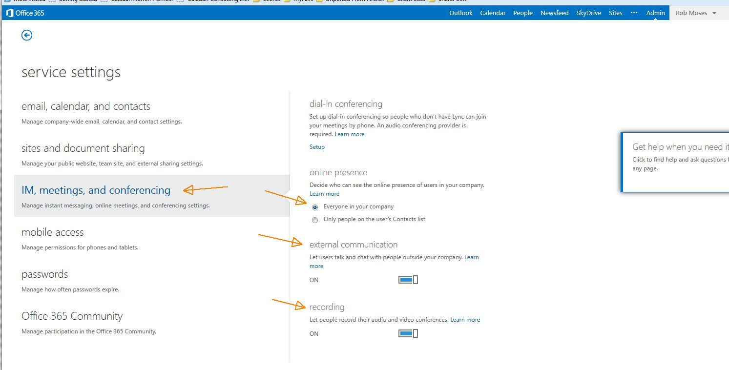 setting email options site https harmon.ie documentation sharepoint