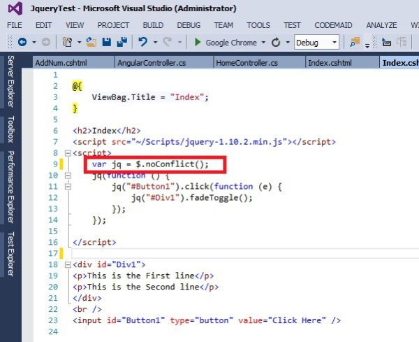 jquery document ready function conflict