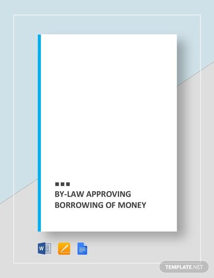 legal document about borrowing money
