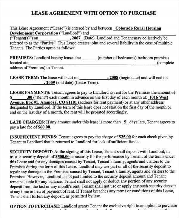 free rent to own legal document