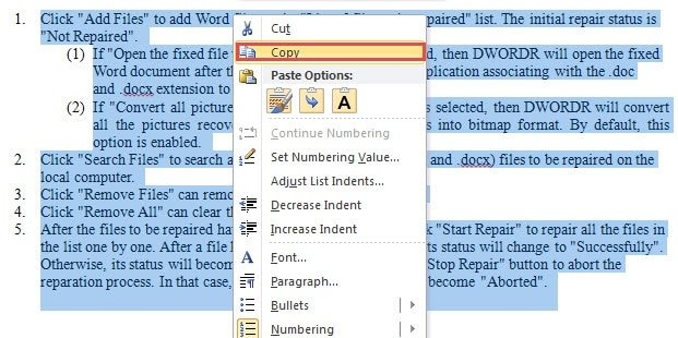 convert word document 2010 to 2003