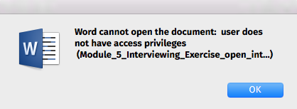 cannot open word document on mac