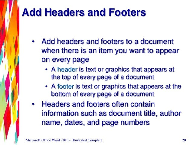 add date field to word document 2013