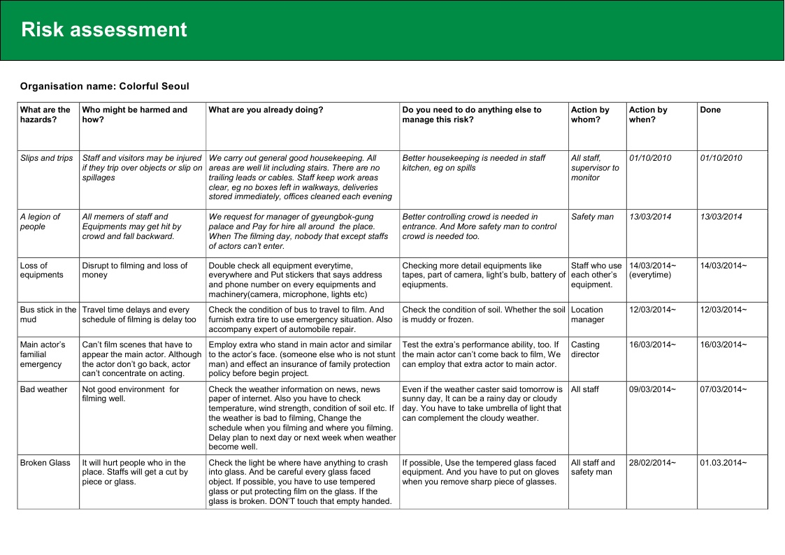 health and safety policy sample document