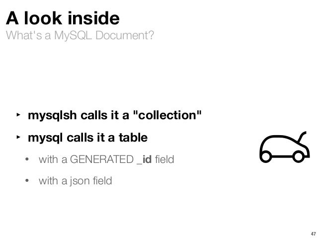 mysql as a document store