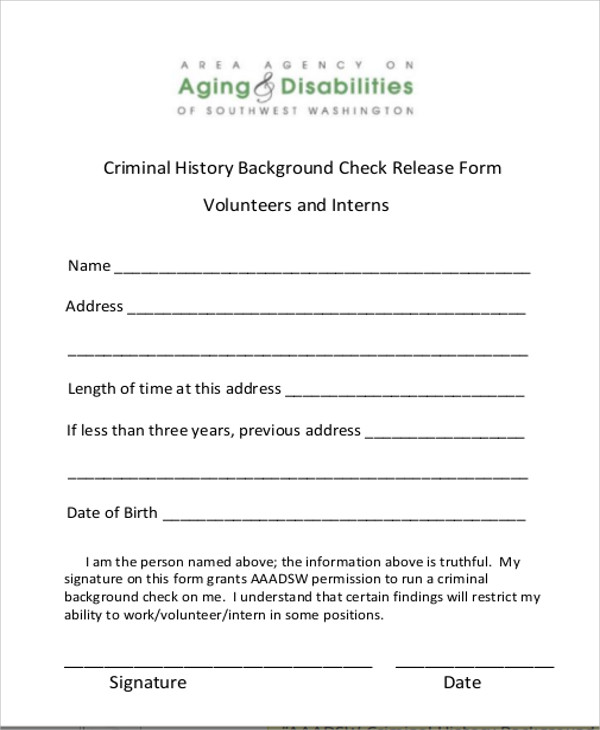 cic document name for criminal record check