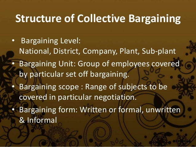 collective bargaining agreement policy document ontario