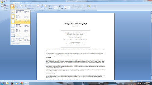 how to make the word document smaller