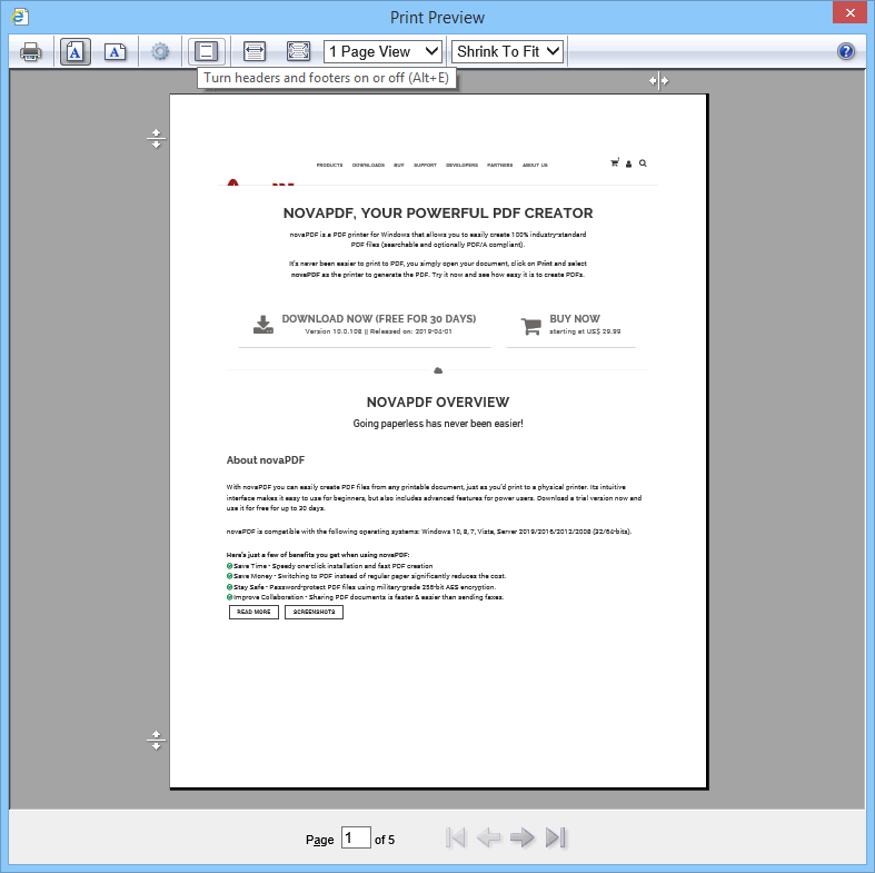 how to create a pdf from a print document