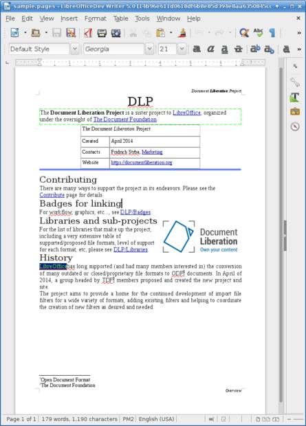 how to flip a document in libreoffice